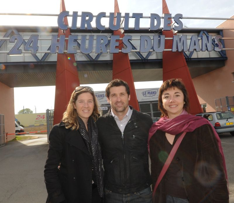 Patrick Dempsey avec Hélène du Mécénat Chirurgie Cardiaque et Isabelle Tetedoie